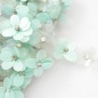 Лента цветочные пайетки мятные 25мм