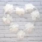 Цветочки шифоновые, белые