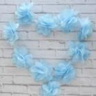 Цветочки шифоновые, голубые