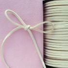Замшевый шнур, айвори, 3мм
