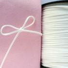 Замшевый шнур, белый, 3мм