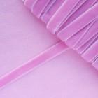 Лента бархатная, розовая, 10мм