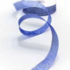 Лента парчевая, синяя, 19мм, 25ярд