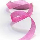 Лента парчевая, розовая, 19мм, 25ярд