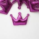 """Украшение """"Корона"""" ярко-розовая 35*50мм"""