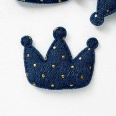 """Украшение """"Корона"""" точки синяя 45*55мм"""