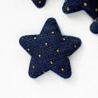 """Украшение """"Звезда"""" точки синяя 45*45мм"""