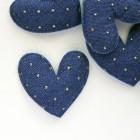 """Украшение """"Сердце"""" синее точки, 50*50мм"""