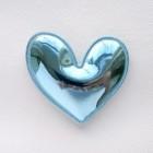 """Украшение """"Сердце"""" глянец голубое, 49*49мм"""