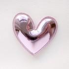"""Украшение """"Сердце"""" глянец розовое, 49*49мм"""