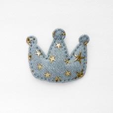 """Украшение """"Корона"""", звезды серая, 45*50мм"""
