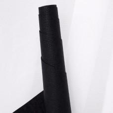 Искусственная кожа, мелкая текстура, чёрный, 50*35см