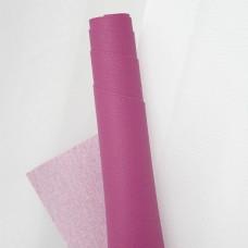 Искусственная кожа, мелкая текстура, ярко-розовый, 50*35см