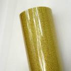 Термотрансферная пленка, с блёстками, золото, 25*25см