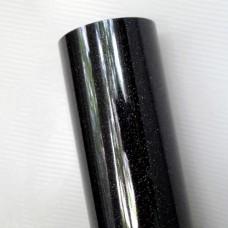Термотрансферная пленка, с блёстками, чёрная, 25*25см