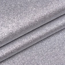 Ткань с мелкими блестками, серебро, мультиколор 34*45см
