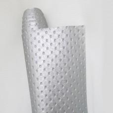 Искусственная кожа, каретная стяжка, серебро, 50*35см