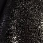 Искусственная кожа, текстура зерно, чёрный, 50*35см