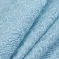 Искусственная кожа, текстура питон, голубой, 50*35см