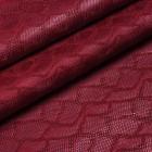 Искусственная кожа, текстура питон, красный, 50*35см