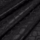 Искусственная кожа, текстура питон, чёрный, 50*35см