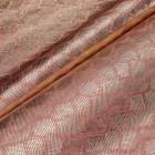 Искусственная кожа, текстура питон блеск, персик/золото, 50*35см