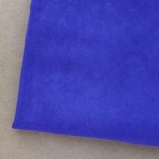 Искусственная замша, синяя, 50*35см