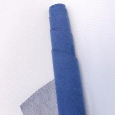 Искусственная замша, синий, 35*50см