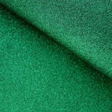 Ткань с мелкими блестками, зелёная, 34*48см