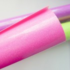 Термотрансферная плёнка, с блёстками, неоновая розовая, 25*25см