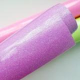 Термотрансферная плёнка, с блёстками, сиренево-розовая, 25*25см