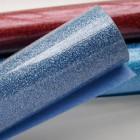 Термотрансферная плёнка, с блёстками, синяя, 25*25см