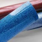 Термотрансферная плёнка, с блёстками, ярко-синяя, 25*25см