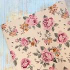 Искусственная кожа, розы, крем., 34*45см