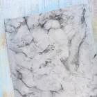 Искусственная кожа, мраморный узор, темно-серый, 35*44см