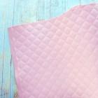 Искусственная кожа, стеганая, розово-персиковая, 35*45см