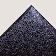 Искусственная кожа завитки, чёрный/чёрный, 35*50см