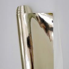 Искусственная кожа, зеркальная светл.золото, 34*48см
