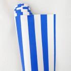 Искусственная кожа, полоска, ярко-синяя, 34*48см