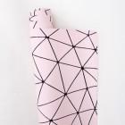 """Искусственная кожа, """"Геометрия"""", розовая, 34*46см"""