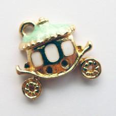 Подвеска карета бирюзовая