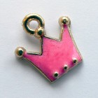 Подвеска корона розовая