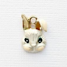 Подвеска кролик белый (1,7*1,2)
