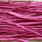 Рафия натуральная, цвет ярко-розовый