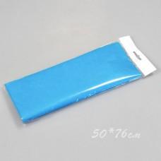 Бумага тишью, 50*76см, 10шт, голубая