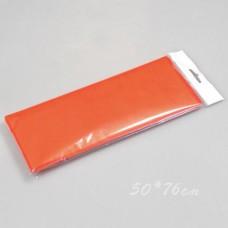 Бумага тишью, 50*76см, 10шт, оранжевая