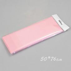 Бумага тишью, 50*76см, 10шт, светло-розовая