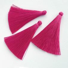 Кисточка ярко-розовая 65мм