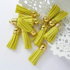 Кисточка жёлтая/золото 37мм