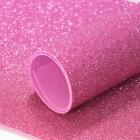 Фоамиран с блестками, 2мм, розовый, 30*20